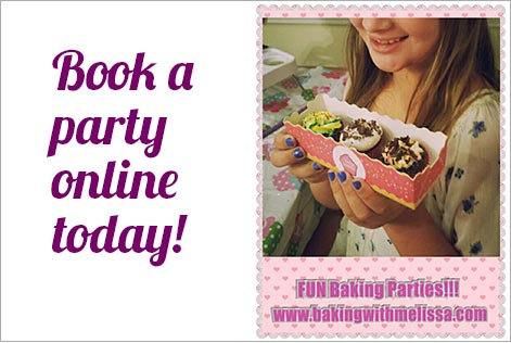 Book a Baking with Melissa party
